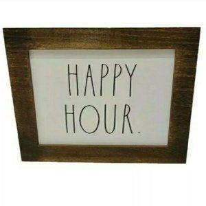Rae Dunn HAPPY HOUR Wood Frame Sign